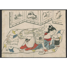 奥村政信: #8 of 11 Lovers getting bored (To be sold as a set) - The Art of Japan