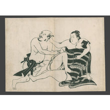鳥居清信: Three lovers - The Art of Japan
