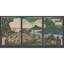 Tsukioka Yoshitoshi: The Attack on Sekimon and the Capture of Botansha - The Art of Japan