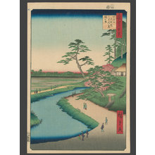 歌川広重: Basho's Retreat On Camellia Hill on the Bank of the Aquaduct at Sekiguchi - The Art of Japan