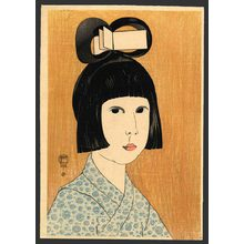 Fritz Capelari: (Title unknown) Portrait of a Girl - The Art of Japan