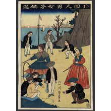 Utagawa Yoshikazu: Hoops and marbles - The Art of Japan