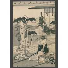 Eishi: Bijin in the Palace Garden of the Suma Daimyo - The Art of Japan