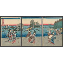 歌川広重: View of the coast at Futami - The Art of Japan