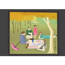 Asano Takeji: Picnic (After a French painting) - The Art of Japan