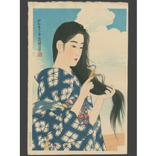 伊東深水: After Washing her Hair - The Art of Japan