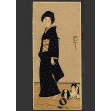 Fritz Capelari: Woman with a Pekinese - The Art of Japan