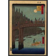 歌川広重: Bamboo Wharf at Kyobashi - The Art of Japan