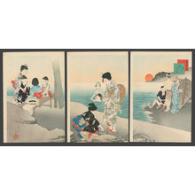 Miyagawa Shuntei: July - At the Beach - The Art of Japan