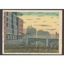 Koizumi Kishio: #22 Edo Bridge and its neighborhood - The Art of Japan