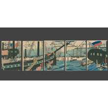 Utagawa Sadahide: Picture of Western Traders at Yokohama Transporting Merchandise - The Art of Japan