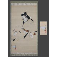 北野恒富: Sleeping Genroku bijin - The Art of Japan