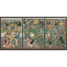 Utagawa Yoshitora: Tales of the Taiheiki as White Go Stones - The Art of Japan