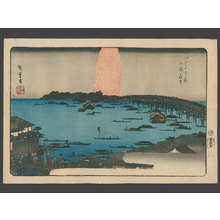 歌川広重: Ryogoku Hanabi (Fireworks at Ryogoku Bridge) - The Art of Japan