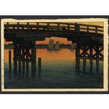 川瀬巴水: Kaminohashi Bridge at Fukagawa - The Art of Japan
