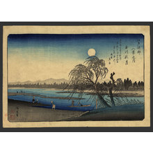 歌川広重: Autumnal moon at Tamagawa - The Art of Japan