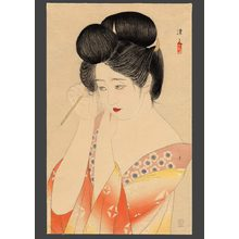 Asai Kiyoshi: Dressing her hair - The Art of Japan