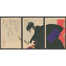 豊原国周: Ichikawa Danjuro IX as Ishikawa Goemon - The Art of Japan