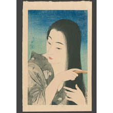 鳥居言人: Combing Her Hair 7/100 - The Art of Japan