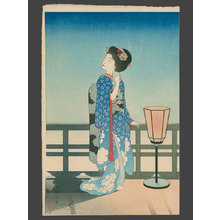 吉川観方: Maiko Admiring the Moon - The Art of Japan