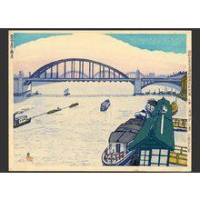 Koizumi Kishio: #47 Komagata Bridge & the steamship port - The Art of Japan