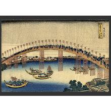 Katsushika Hokusai: Temman Bridge in Settsu - The Art of Japan