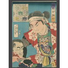 月岡芳年: #3 Aizu Komon Examining a Head - The Art of Japan