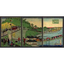 一景: Tokyo Takanawa Steam engine railway - The Art of Japan