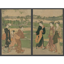 Torii Kiyonaga: Excursion to Mimeguri Shrine at Mukajima - The Art of Japan