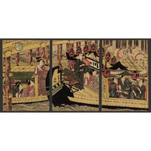 Utagawa Toyokuni I: 6th month - Boating at Ryogoku Bridge - The Art of Japan