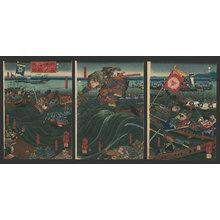 Utagawa Kuniyoshi: Picture of the battle of Dan no ura - The Art of Japan