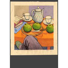 Takei Takeo: Still life on a table (B) 7/20 - The Art of Japan