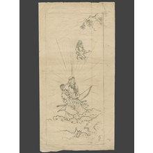 無款: Amaterasu, The Sun Goddess and Sister of Susan-o Before She Hid in Her Cave - The Art of Japan