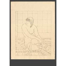 石川寅治: At the bath - The Art of Japan