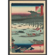 Utagawa Hiroshige II: #8 The Tenjin Nozu Festival at Naniwa Bridge in Sesshu Province - The Art of Japan