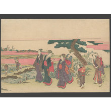 Katsushika Hokusai: On the Way to the Meguro Fudo Hall - The Art of Japan