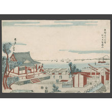 Shotei Hokuju: Sea Viewed from the Suzaki Benten Shrine at Fukugawa. - The Art of Japan