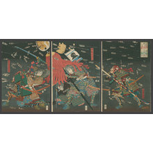 歌川国芳: Last stand of the Kusunoki Clan at Shijonawate in 1348 - The Art of Japan