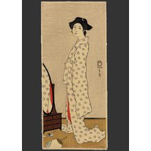Fritz Capelari: Woman standing before a mirror - The Art of Japan