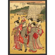 勝川春潮: Strolling courtesans - The Art of Japan