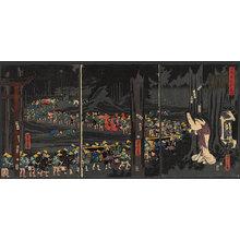Utagawa Yoshitora: The fox-wedding procession - The Art of Japan