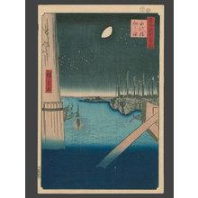 歌川広重: #4 Tsukudajima from Eitai Bridge - The Art of Japan