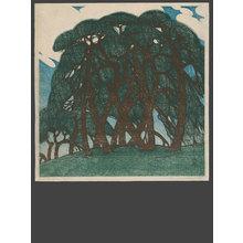 Fritz Capelari: Pines near Yotsuya Mitsuke - The Art of Japan