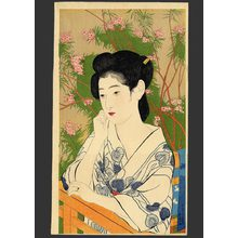 Hashiguchi Goyo: Woman at a Hot Springs Hotel - The Art of Japan