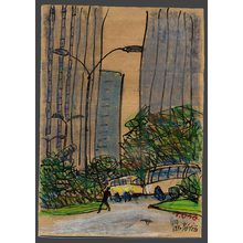 Ono Tadashige: West Shinjuku in the morning - The Art of Japan