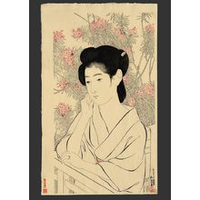 Hashiguchi Goyo: Woman at a hot spring hotel - The Art of Japan