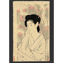 橋口五葉: Woman at a hot spring hotel - The Art of Japan
