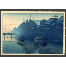 Kawase Hasui: Morning at Dotonbori in Osaka - The Art of Japan