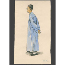 Elizabeth Keith: Watercolor Sutudy for Pewter Shop, Soochow - The Art of Japan