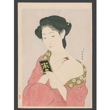 橋口五葉: Woman Applying Make-up - The Art of Japan